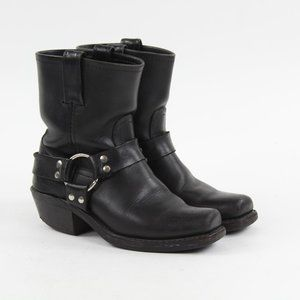 FRYE 8R Harness Black Leather Motorcycle Boots 6